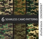 set of 6 pack camouflage... | Shutterstock .eps vector #1063060067