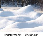 fresh snow cover in dunes at... | Shutterstock . vector #106306184