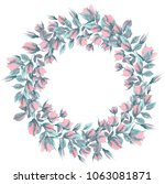 A Watercolor Floral Wreath For...