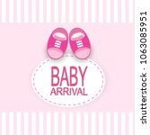 baby arrival design | Shutterstock .eps vector #1063085951