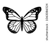 black and white vector butterfly | Shutterstock .eps vector #1063086524