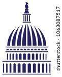 u.s. capitol dome vector... | Shutterstock .eps vector #1063087517