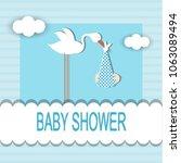 baby shower card | Shutterstock .eps vector #1063089494