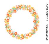 circle frame of stylized... | Shutterstock .eps vector #1063091699