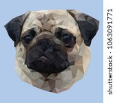 pug low polygon dog low polygon ... | Shutterstock .eps vector #1063091771