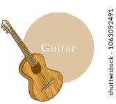 colored guitar. musical... | Shutterstock .eps vector #1063092491
