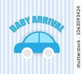 baby arrival card | Shutterstock .eps vector #1063093424