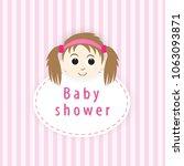 baby shower card | Shutterstock .eps vector #1063093871