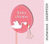 baby shower card | Shutterstock .eps vector #1063095524