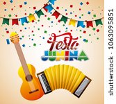 festa junina summer parties | Shutterstock .eps vector #1063095851