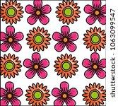 set of cute flowers decoration...   Shutterstock .eps vector #1063099547