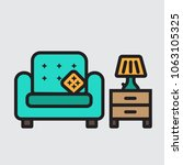 couch grandfather chair with... | Shutterstock .eps vector #1063105325