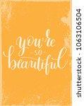 vintage brush poster script...   Shutterstock .eps vector #1063106504