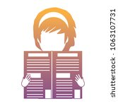 avatar woman with newspaper   Shutterstock .eps vector #1063107731