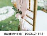 setup wedding ceremony | Shutterstock . vector #1063124645