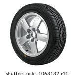 single car wheel isolated on... | Shutterstock . vector #1063132541