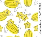 seamless pattern with sliced... | Shutterstock .eps vector #1063132805