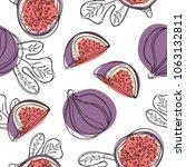 fresh figs seamless pattern.... | Shutterstock .eps vector #1063132811
