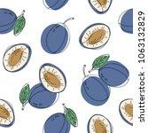hand drawn seamless pattern... | Shutterstock .eps vector #1063132829