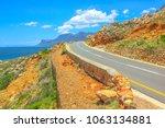 road trip in summer season alog ...   Shutterstock . vector #1063134881