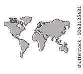 world maps silhouette icon   Shutterstock .eps vector #1063135631