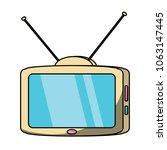 retro television icon  | Shutterstock .eps vector #1063147445