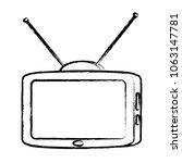 retro television icon  | Shutterstock .eps vector #1063147781