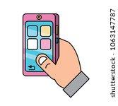 smartphone device icon  | Shutterstock .eps vector #1063147787