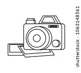 photographic camera design | Shutterstock .eps vector #1063148561