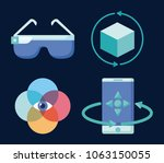 virtual reality design | Shutterstock .eps vector #1063150055