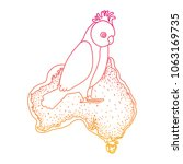 gang gang cockatoo bird over...   Shutterstock .eps vector #1063169735