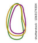 necklace balls mardi gras... | Shutterstock .eps vector #1063174304