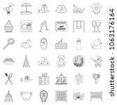 cocktail icons set. outline... | Shutterstock . vector #1063176164