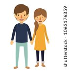 couple with winter clothes... | Shutterstock .eps vector #1063176359