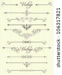 vector calligraphic design... | Shutterstock .eps vector #106317821