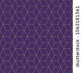 Line Pattern Gold On Purple ...