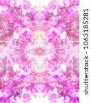 pink photo kaleidoscope design... | Shutterstock . vector #1063185281