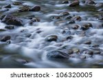 Blurred Water In Motion Among...