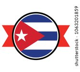 cuba flag in round button of... | Shutterstock .eps vector #1063201859