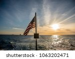 American Flag Flying From A...