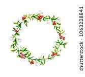 pattern from plants. a wreath... | Shutterstock . vector #1063228841