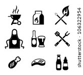 grill or barbecue icons | Shutterstock .eps vector #106322954