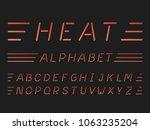 heat italic font. vector... | Shutterstock .eps vector #1063235204