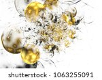 abstract chaotic glittering... | Shutterstock . vector #1063255091