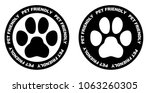 pets allowed sign. black and...   Shutterstock .eps vector #1063260305