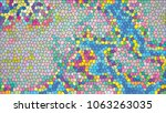 abstract colorful mosaic.... | Shutterstock .eps vector #1063263035