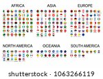 vector set official national... | Shutterstock .eps vector #1063266119