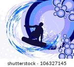 surfer on summer background  ... | Shutterstock .eps vector #106327145