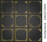 decorative gold frames and... | Shutterstock .eps vector #1063272041