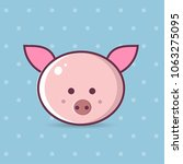 vector image of a pig design on ... | Shutterstock .eps vector #1063275095